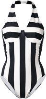 Norma Kamali striped swimsuit - women - Nylon/Spandex/Elastane - S