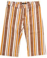 Roberto Cavalli Striped Cropped Jeans