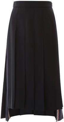 Thom Browne Pleated Asymmetric Skirt
