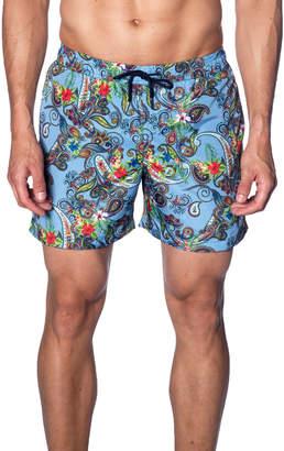 Jared Lang Men's Paisley-Print Swim Trunks