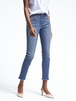 Banana Republic Sculpt Fray-Hem Skinny Jean