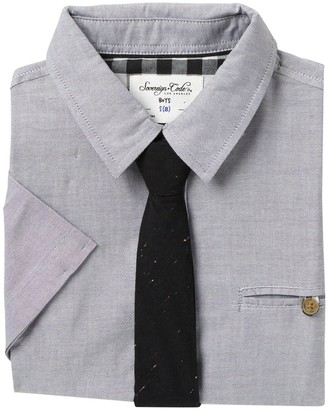 Sovereign Code Yucatan Short Sleeve Shirt & Tie Set (Big Boys)