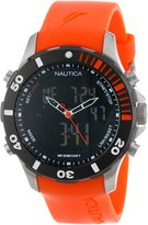 Nautica Men's Bfd N18668G Orange Silicone Analog Quartz Watch with Dial