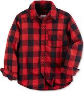 Carter's Toddler, Long Sleeved Red Buffalo Check Shirt, Toddler Boys' (2T-5T)