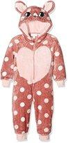 Pumpkin Patch Girl's Spotty Kitty All in One Pyjama Set