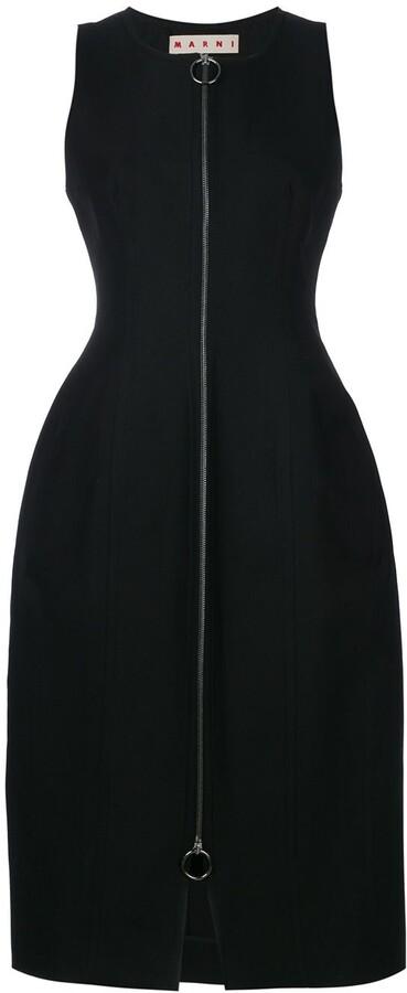 Marni Zip Front Oversized Dress