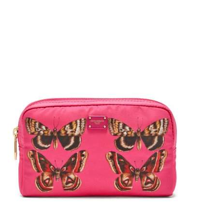 Dolce & Gabbana Butterfly Print Zip Around Cosmetics Bag - Womens - Pink Multi