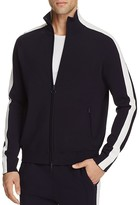 Vince Racing Stripe Knit Track Jacket