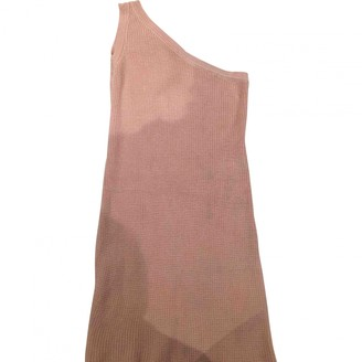 Unravel Project Pink Cotton Dress for Women