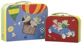 "Babar Yottoy Set of Two Suitcases (L) 10.75"" and (s) 7.75"""
