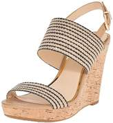 Jessica Simpson Women's JANIC Wedge Sandal NATURAL/BLACK,12