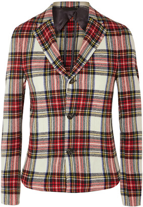 R 13 Checked Wool-blend Flannel Blazer