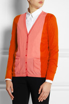Fendi Color-block cashmere cardigan