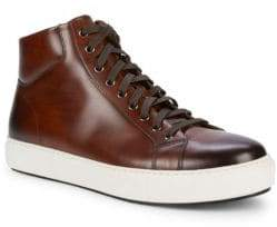 Magnanni Leather High Top Sneakers