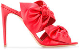 Casadei double bow mules - women - Calf Leather/Leather/Kid Leather - 35