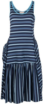 Marni Striped Cotton Jersey Dress