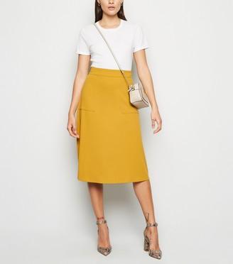 New Look JDY Pocket Front Midi Skirt