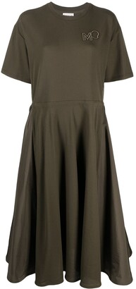Moncler Short Sleeve Midi Dress