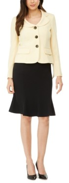Le Suit Flare-Hem Skirt Suit