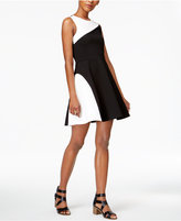 Bar III Colorblocked Fit and Flare Dress, Only at Macy's