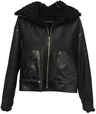 Balenciaga Black Shearling Jackets