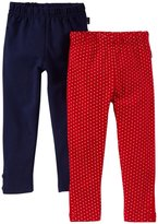 Jo-Jo JoJo Maman Bebe 2 Pack Leggings (Toddler/Kid) - Red/White Dot-3-4