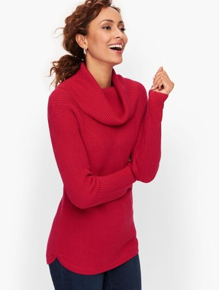 Talbots Cotton Modal Cowlneck Sweater - Solid