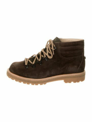 Montelliana Suede Hiking Boots Brown