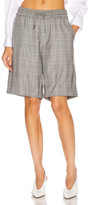 R 13 Baggy Short in Grey Plaid | FWRD