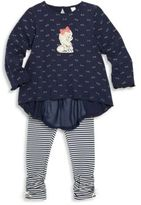 Petit Lem Little Girl's Printed Tunic & Leggings Set