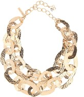 Oscar de la Renta Hammered Chain Link Necklace