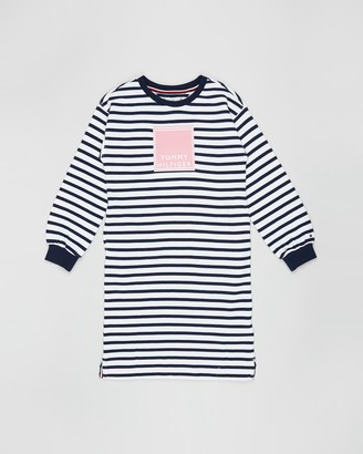 Tommy Hilfiger Nautical Stripe Sweat Dress - Teens