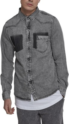 Urban Classics Men's Denim Pocket Shirt