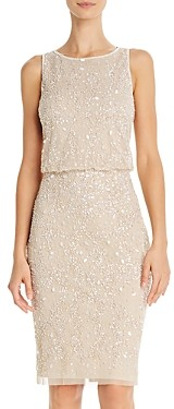 Adrianna Papell Embellished Cocktail Dress - 100% Exclusive