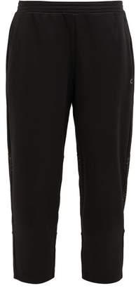 Calvin Klein Mesh-panel Cropped Track Pants - Womens - Black