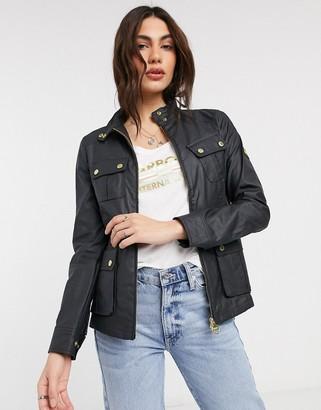 Barbour International Thunderbolt slim casual jacket in black