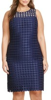 Lauren Ralph Lauren Plus Size Women's Mod Geometric Lace Sheath Dress