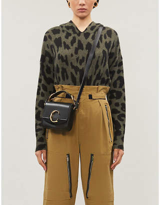 360 Cashmere Carson leopard-print cashmere hoody.