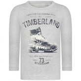 Timberland TimberlandBoys Grey Cotton Boot Print Top