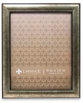 Lawrence Frames Domed Burnished Silver & Black 8-Inch x 10-Inch Picture Frame