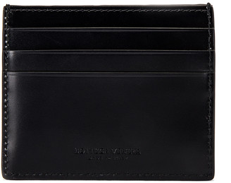 Bottega Veneta Cardholder in Black & Black & Silver | FWRD