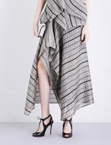 Roland Mouret Haxby metallic-cloqué skirt