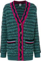 M Missoni oversized intarsia cardigan - women - Polyamide/Viscose/Wool - S
