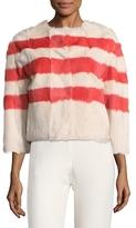 RED Valentino Fur Striped Jacket