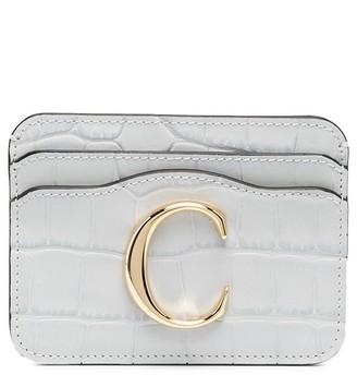 Chloé embossed C-logo cardholder