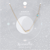 Accessorize March Birthstone Necklace