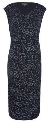Dorothy Perkins Womens **Billie & Blossom Dark Grey Leopard Print Bodycon Dress, Grey