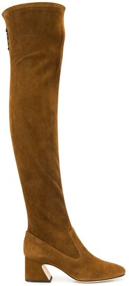 Alberta Ferretti Over The Knee Heeled Boots
