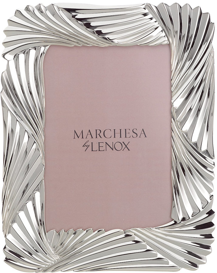 """Marchesa by Lenox Picture Frame, Pleated Swirl 5"""" x 7"""""""