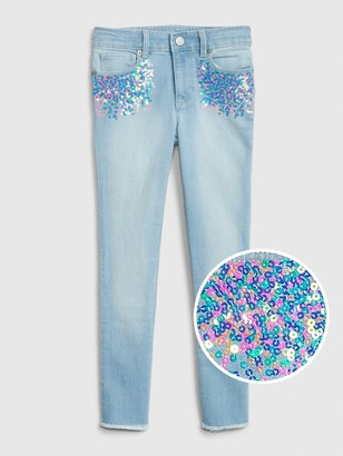 Gap Kids Sequin Super Skinny Jeans with Stretch